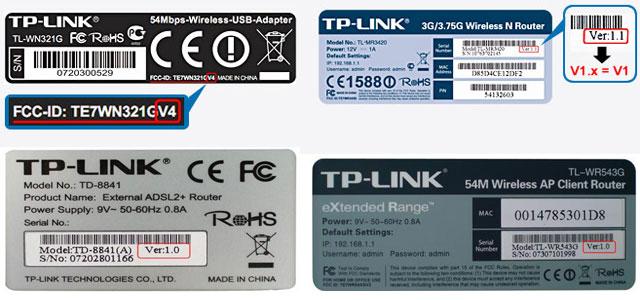 Версия прошивки роутера TP-Link