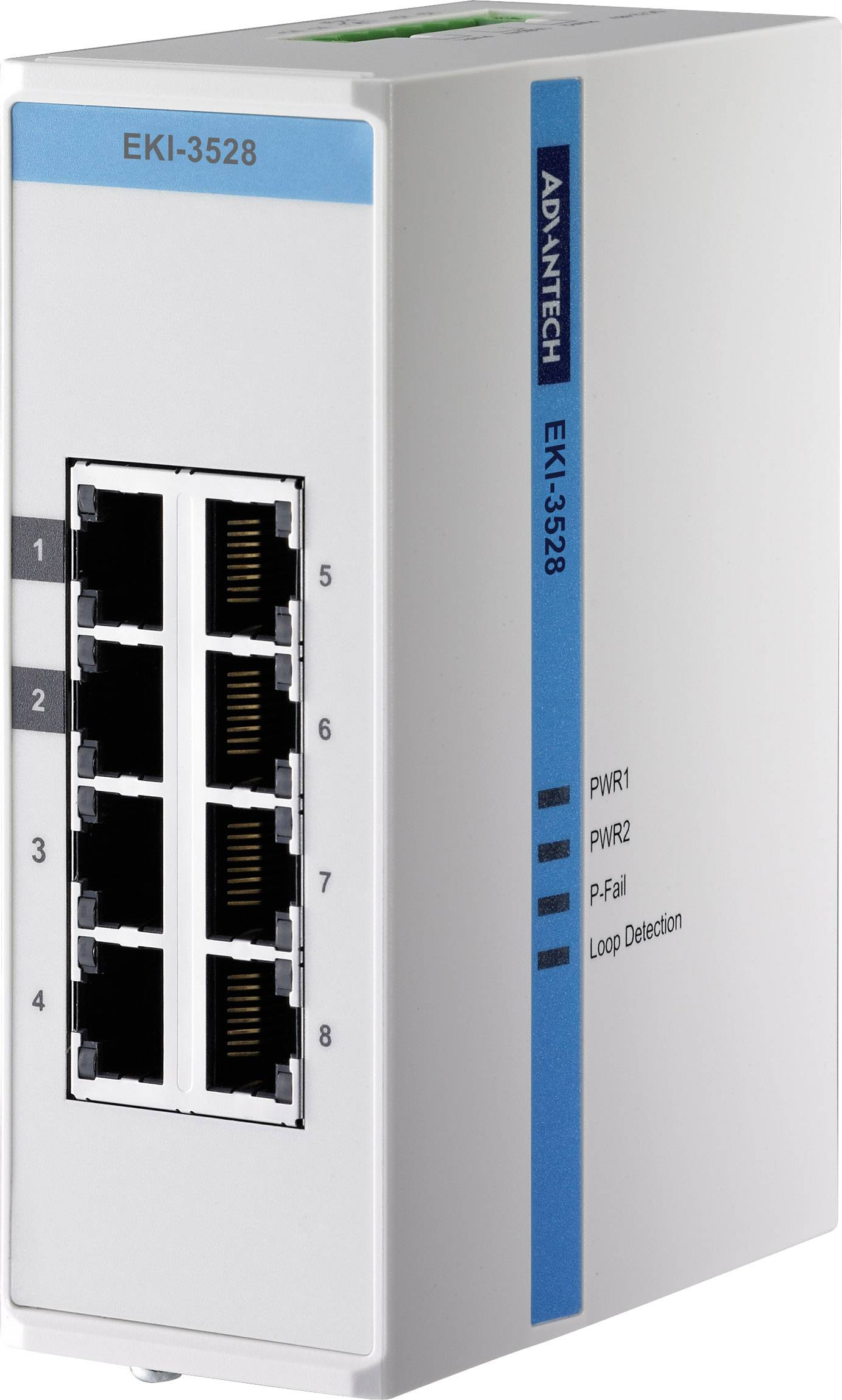 Коммутатор промышленный неуправляемый Fast Ethernet IP40 Advantech EKI-3528-AE