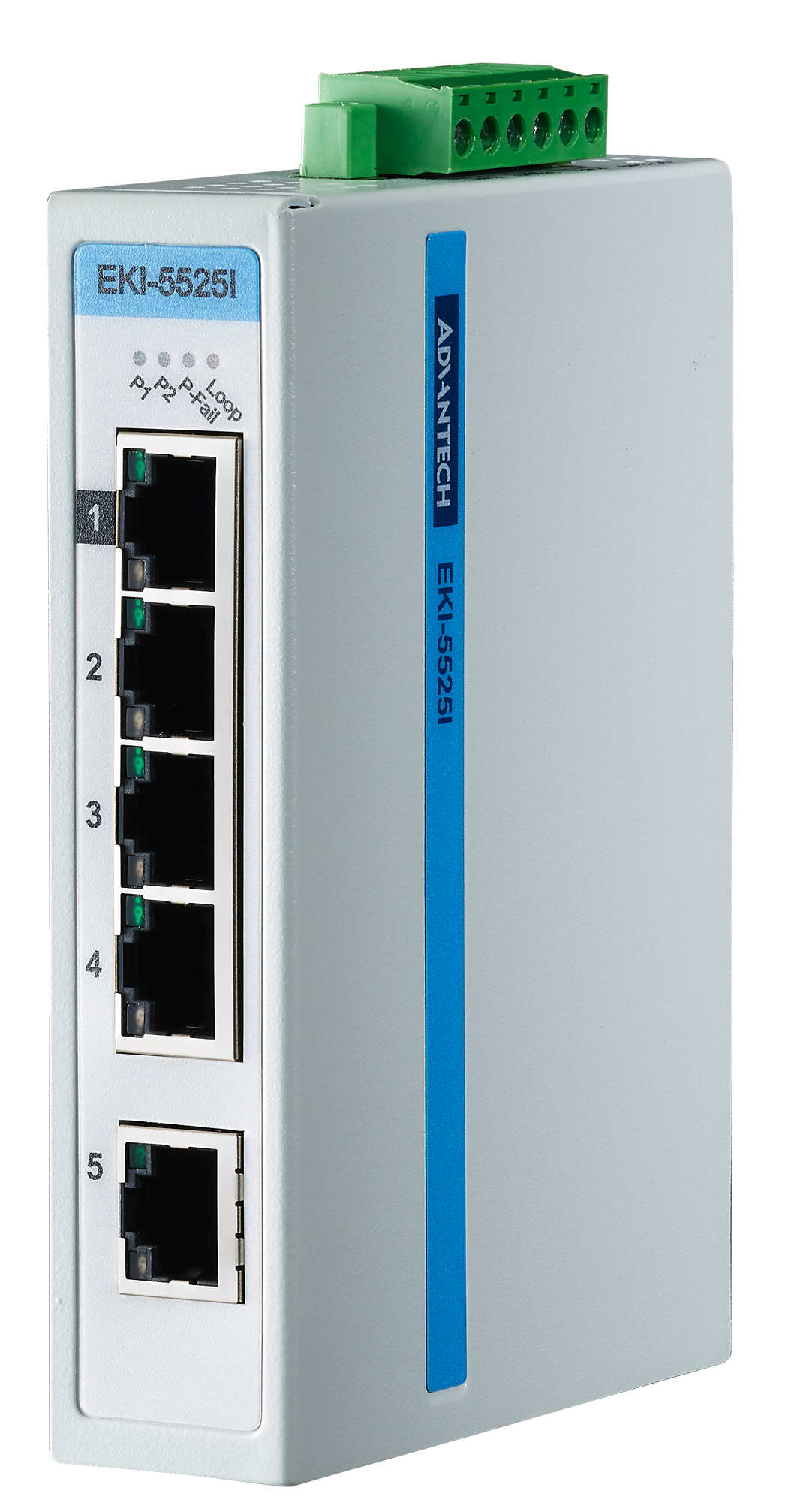 Коммутатор промышленный неуправляемый Fast Ethernet IP30 Advantech EKI-5525-AE