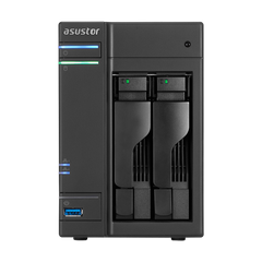 Сетевое хранилище NAS NAS сервер 2xHDD/SSD 32 ТБ 2 ГБ SO-DIMM DDR3L 2xGbE 4xUSB 3.0 Asustor AS6302T фото 1 из 2
