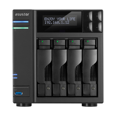 Сетевое хранилище NAS NAS сервер 4xHDD/SSD 64 ТБ 8 ГБ SO-DIMM DDR3L 2xGbE 4xUSB 3.0 Asustor AS6404T фото 1 из 2