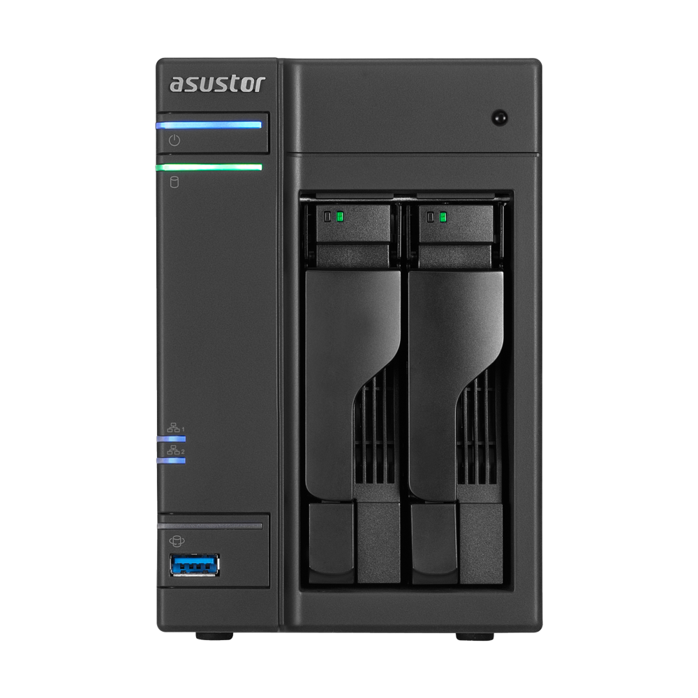 Сетевое хранилище NAS NAS сервер 2xHDD/SSD 32 ТБ 2 ГБ SO-DIMM DDR3L 2xGbE 3xUSB 3.0 2xUSB 2.0 Asustor AS6102T фото 1 из 3