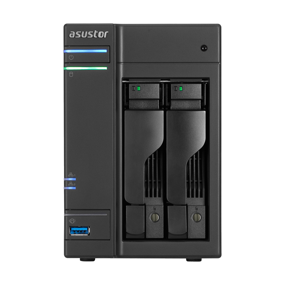 Сетевое хранилище NAS NAS сервер 2xHDD/SSD 32 ТБ 4 ГБ SO-DIMM DDR3L 2xGbE 3xUSB 3.0 2xUSB 2.0 Asustor AS6202T фото 1 из 3