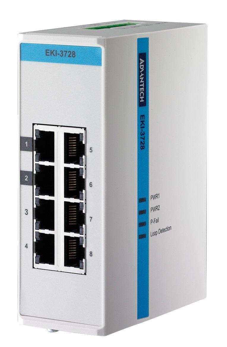 Коммутатор промышленный неуправляемый Gigabit Ethernet IP30 Advantech EKI-3728-AE